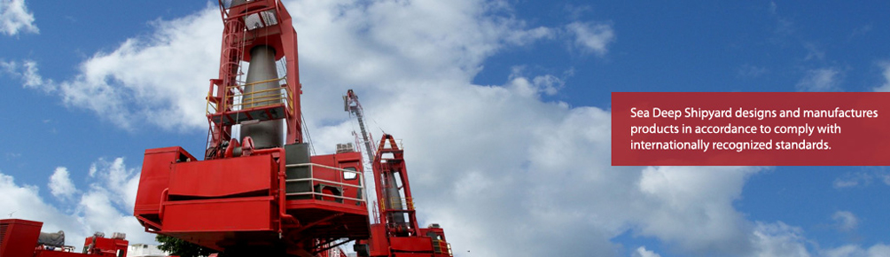Sea Hercules Cranes designs and manufactures products in accordance to comply with internationally recognized standards